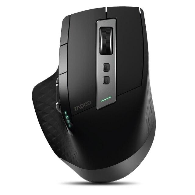 Rapoo souris sans fil, multimode, Rechargeable Bluetooth, 2.4 go, 4 appareils, commutation facile, pour Windows, PC et Android