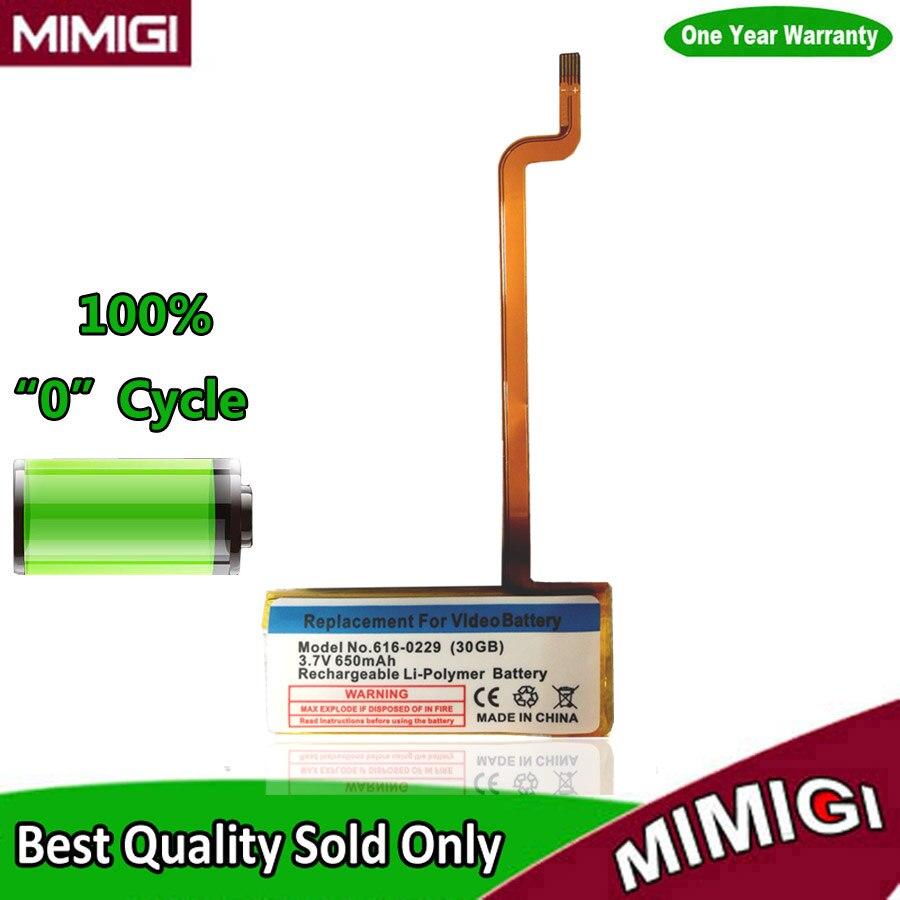 D'origine de Remplacement 650 mAh 616-0229 Batterie Pour Apple iPod 5G Vidéo 30 GB A1136 Accumulateur Batterie AKKU AKU Accu