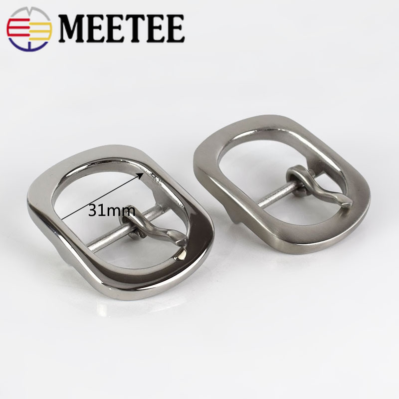 1PC Fashion Solid Stainless Steel Belt Buckles Metal Pin Buckles for Belt 29 30mm Mens Jeans Belt Head DIY Leather Craft in Buckles Hooks from Home Garden