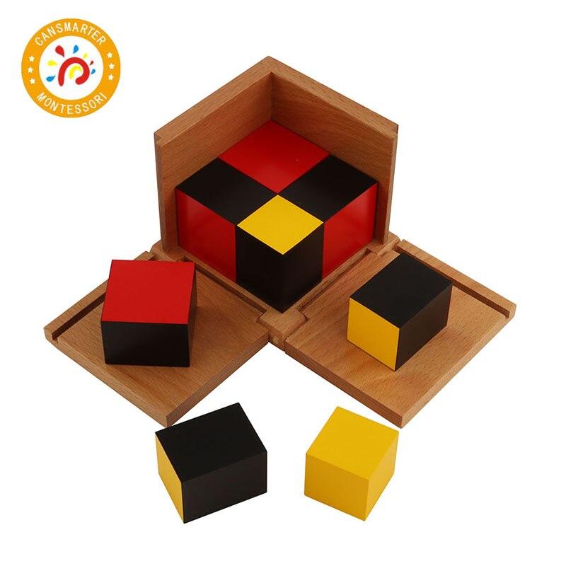 Montessori matériel mathématiques jouet algébrique binôme Cube trinôme Cube jouets de la petite enfance - 4