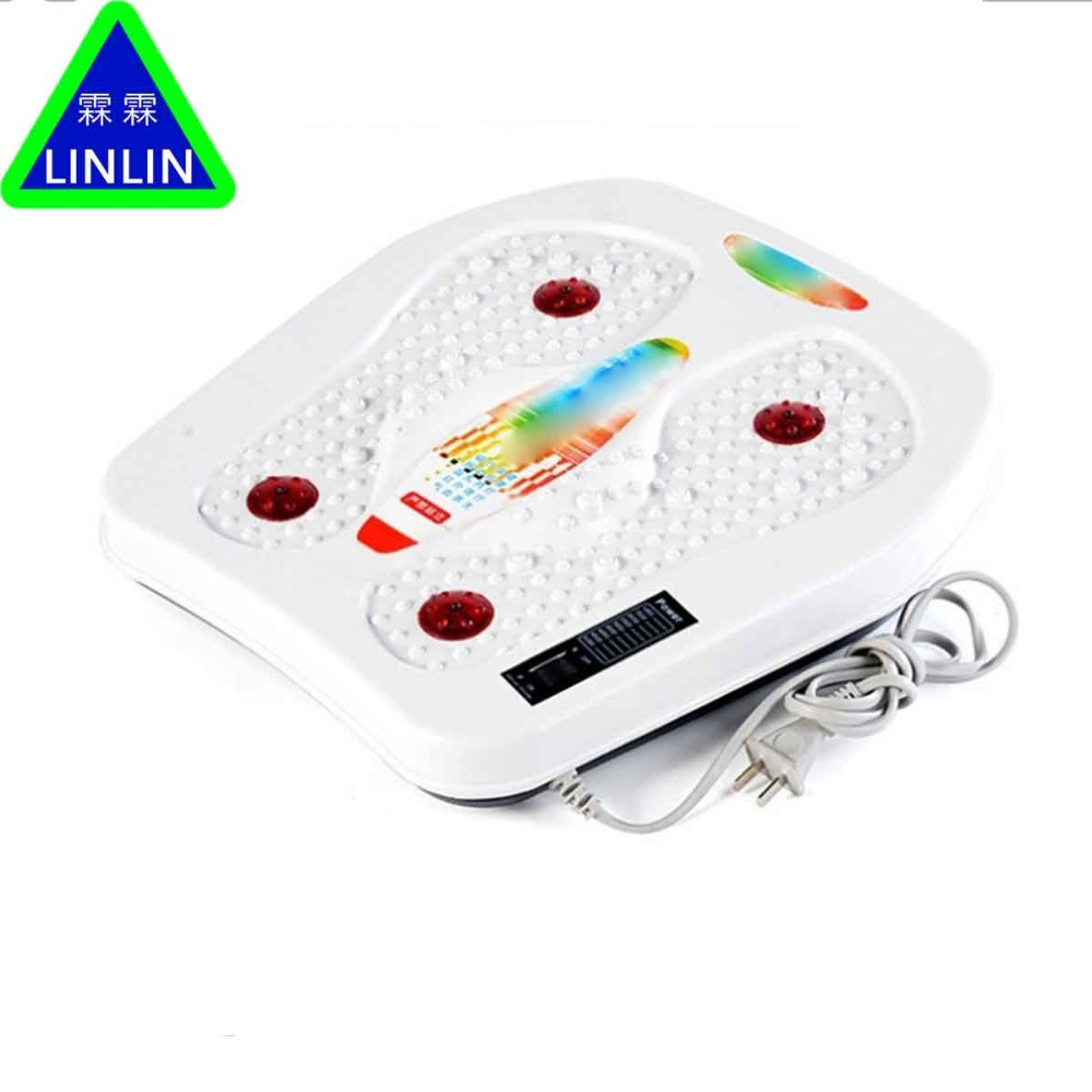 LINLIN infravermelho reflexologia podal Massageador elétrico máquina. Automática rolo de cuidados com os pés massageador terapia circulação aquecedor SPA