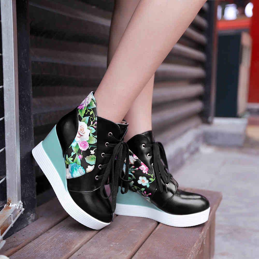 d15c616d 2016 mujeres de Martin temporada de invierno botas de cuña gruesa corto  botas planas de los zapatos en Botines de Zapatos en AliExpress.com    Alibaba Group