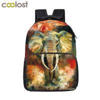 Oil Painting Elephant Backpack Women Men Travel Bags Boys Girls School Backpack Kids Book Bag