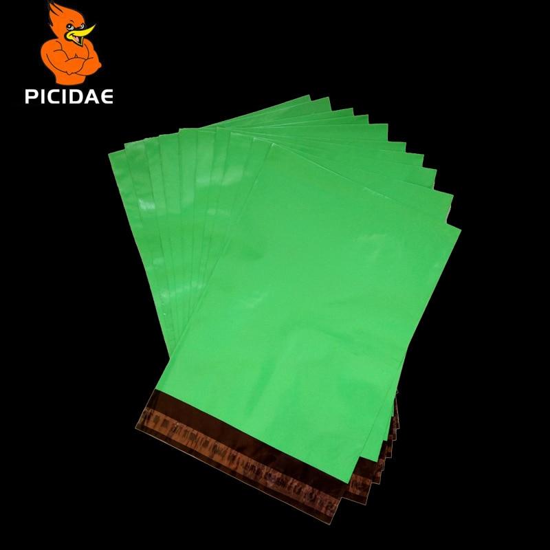 Bolso de correo de envío de polietileno de plástico verde - Organización y almacenamiento en la casa