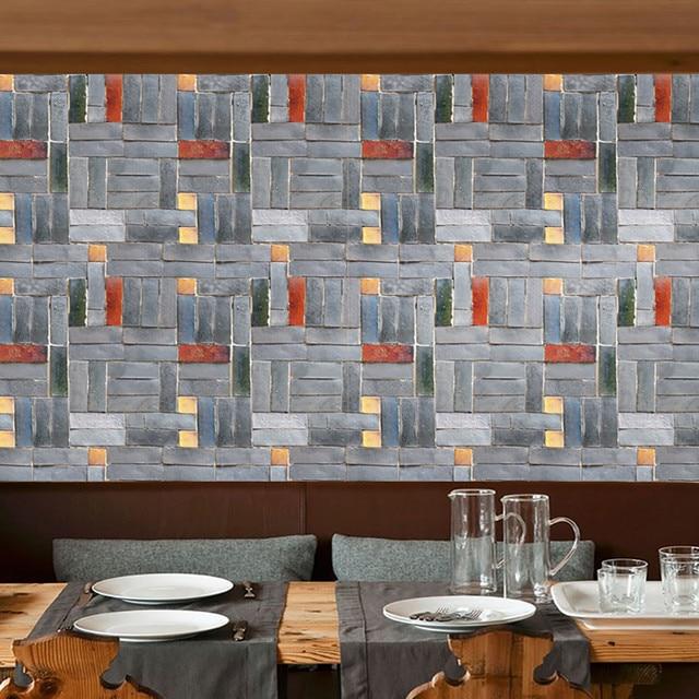 2018 new 45 * 100cm natural brick self adhesive the wallpaper diy
