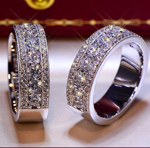 2018 mode solide 925 Stelring argent mariage fiançailles anniversaire anneau bande bijoux hommes femmes Brithday fête cadeau G couleur