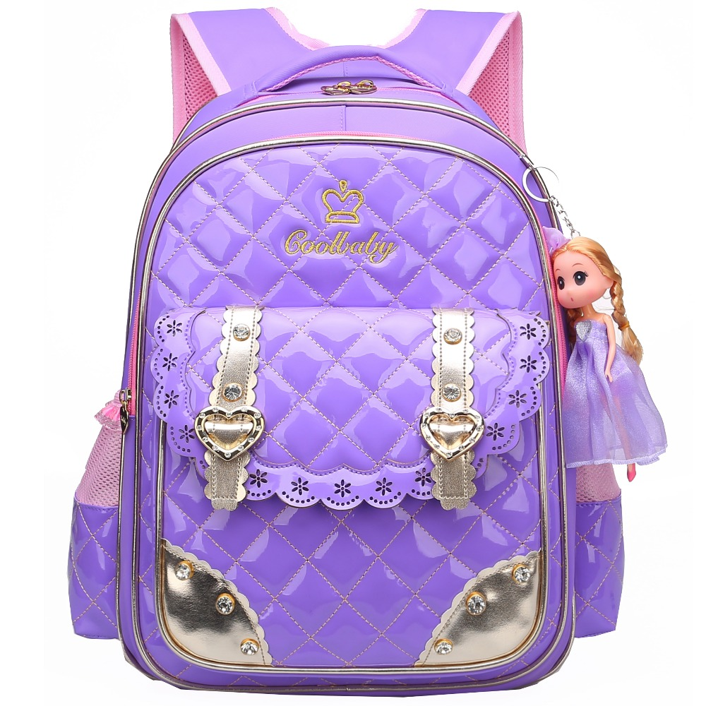 Waterproof Toddler Preschool Bag Kindergarten Kids Backpack for Girls PU Leather