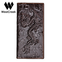 Brand Unique Design Chinese Dragon Pattern Genuine Leather Men S Wallets High Quality Really Leather Purse