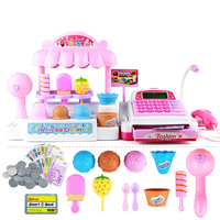 Plastic Children Cash Register Kids Educational Toys Simulation Supermarket Ice Cream Shop Girl Toys Set