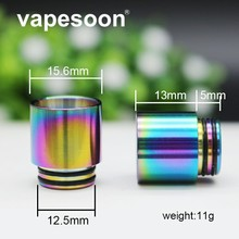 цены на Rainbow Stainless Steel Vape Mouthpiece 810 Drip Tip for e-cigarette Atomizer for SMOK TFV12 Prince / TFV8 Big Baby Tank  в интернет-магазинах