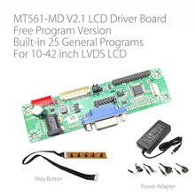 Free Program verison MT561 MD VGA+DC General LVDS LCD Driver Board for 10 42 inch LCD Monitor Panel with 5 key button and Power