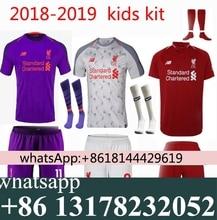 347f8aa7701 18 19 Liverpooles kids jersey Home Away football camisetas Thai AAA shirt  survetement football Soccer jersey