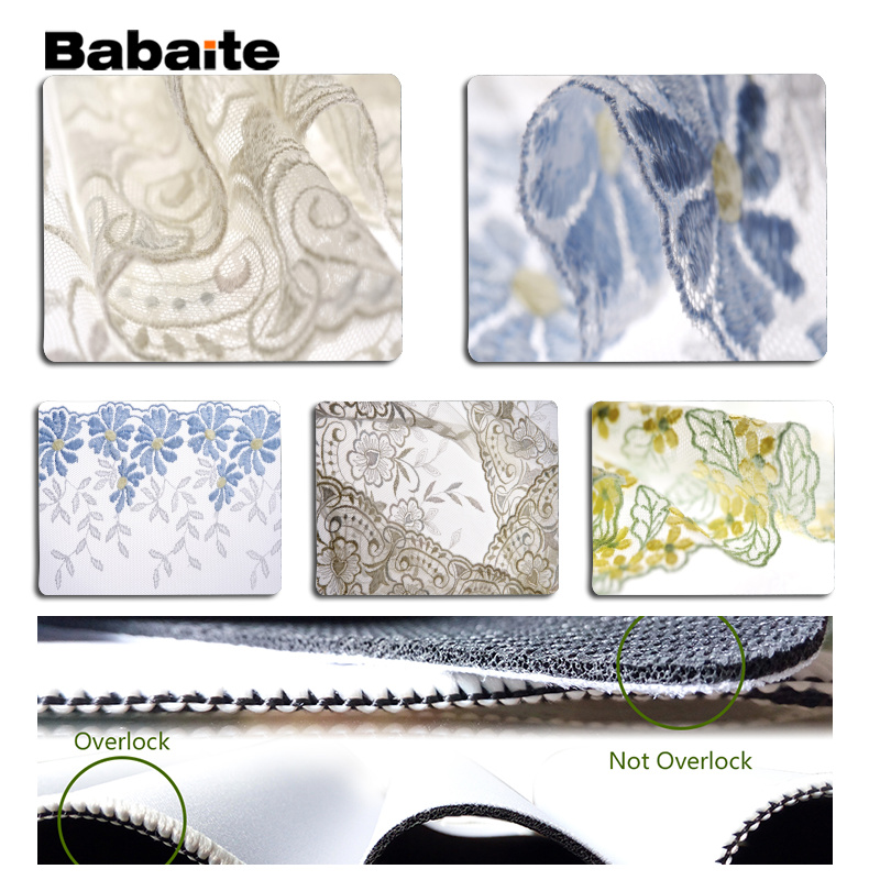 Babaite My Favorite Bud silk Large Mouse pad PC Computer mat Size for 18x22cm 25x29cm Rubber Mousemats
