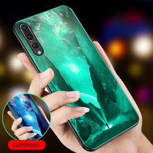 Luminous Phone Cover For Huawei Honor Play 7X 8 8X Max 9 10 Lite P20 P30 Mate 20 Pro P10 Nova 3 Tempered Glass Cases