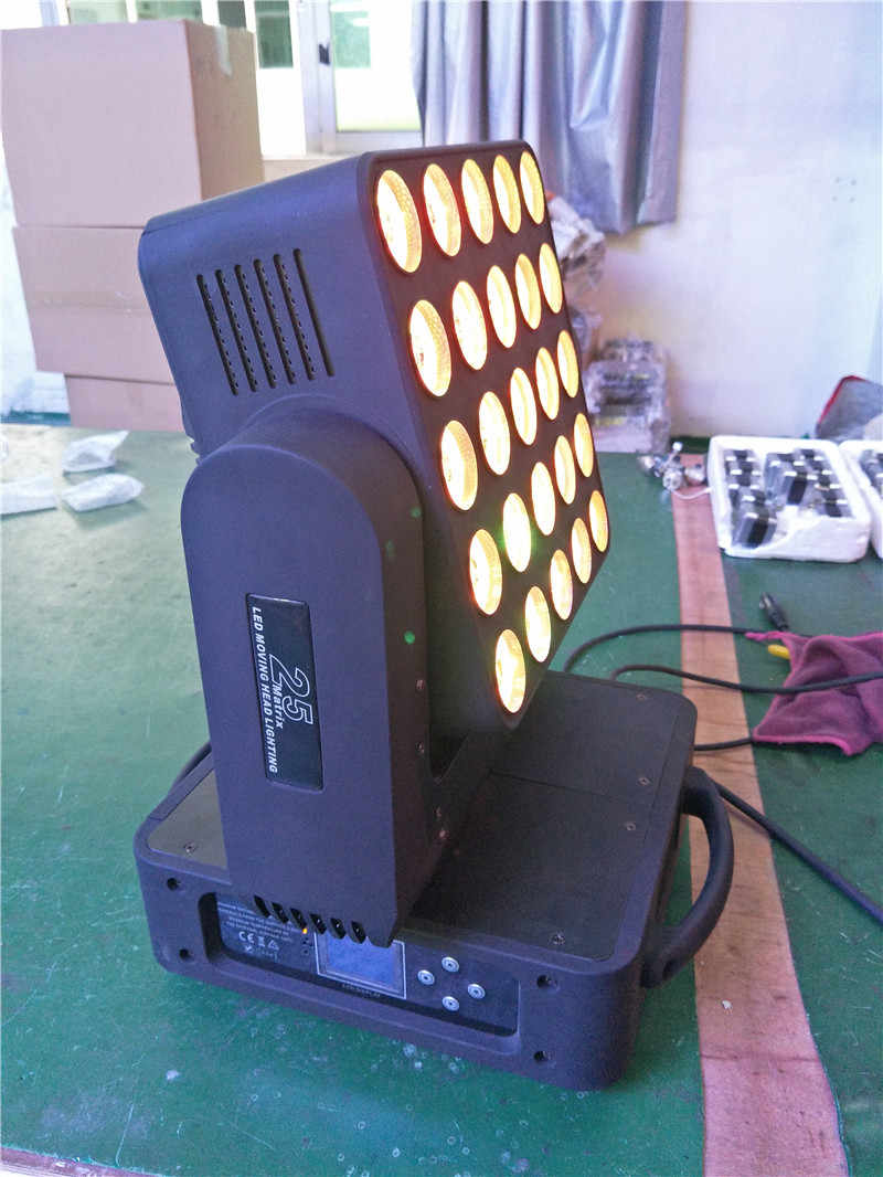 New professional 5x5  25eyes led moving head matrix light  for stage ,party ,KTV ,disco ,DJ,luminaires,studio,cyclorama