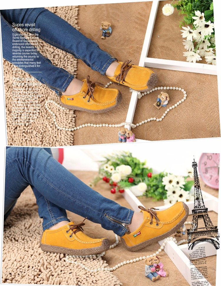 Hot Sale 2016 Winter Warm Women Flats Leisure Solid Comfortable Women Casual Shoes New Fashion Wild Lace-up Ladies Shoes SDT90 (4)