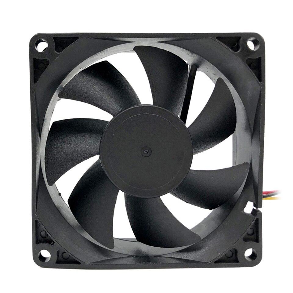 NEW F8025 80mm Computer Cooler Fan Desktop Cooling Fan Low Noise 12V Exhaust Fan for PC Case / Power Supply computer cooling