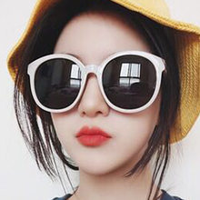dde5f10c53a4c Coreano Harajuku Óculos De Sol Retro Óculos De Sol Das Mulheres Grandes  óculos de Armação Óculos UV400 Branco