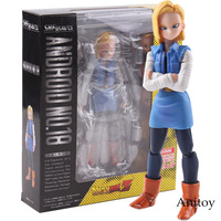 SHF S.H.Figuarts Dragon Ball Z Android NO.18 PVC Action Figure Dragon Ball Android 18 Collectible Model Toy