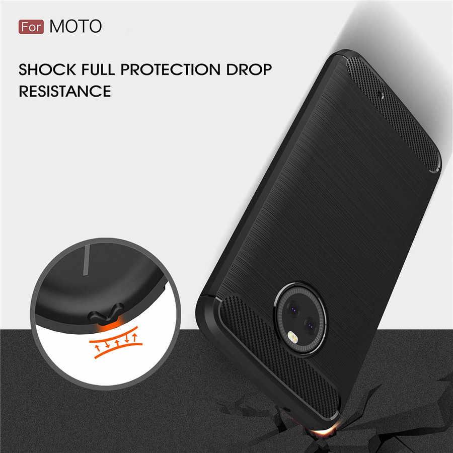 耐震電話ケースモトローラ 1 ケース電源カバーモト X4 Z4 Z Z2 Z3 再生力炭素繊維 TPU シリコーン電話バックケース