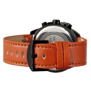 Image 5 - SKONEนาฬิกาผู้ชายหนังกันน้ำอัตโนมัติวันที่นาฬิกาข้อมือควอตซ์กีฬานาฬิกาชายChronographนาฬิกาRelogio Masculino