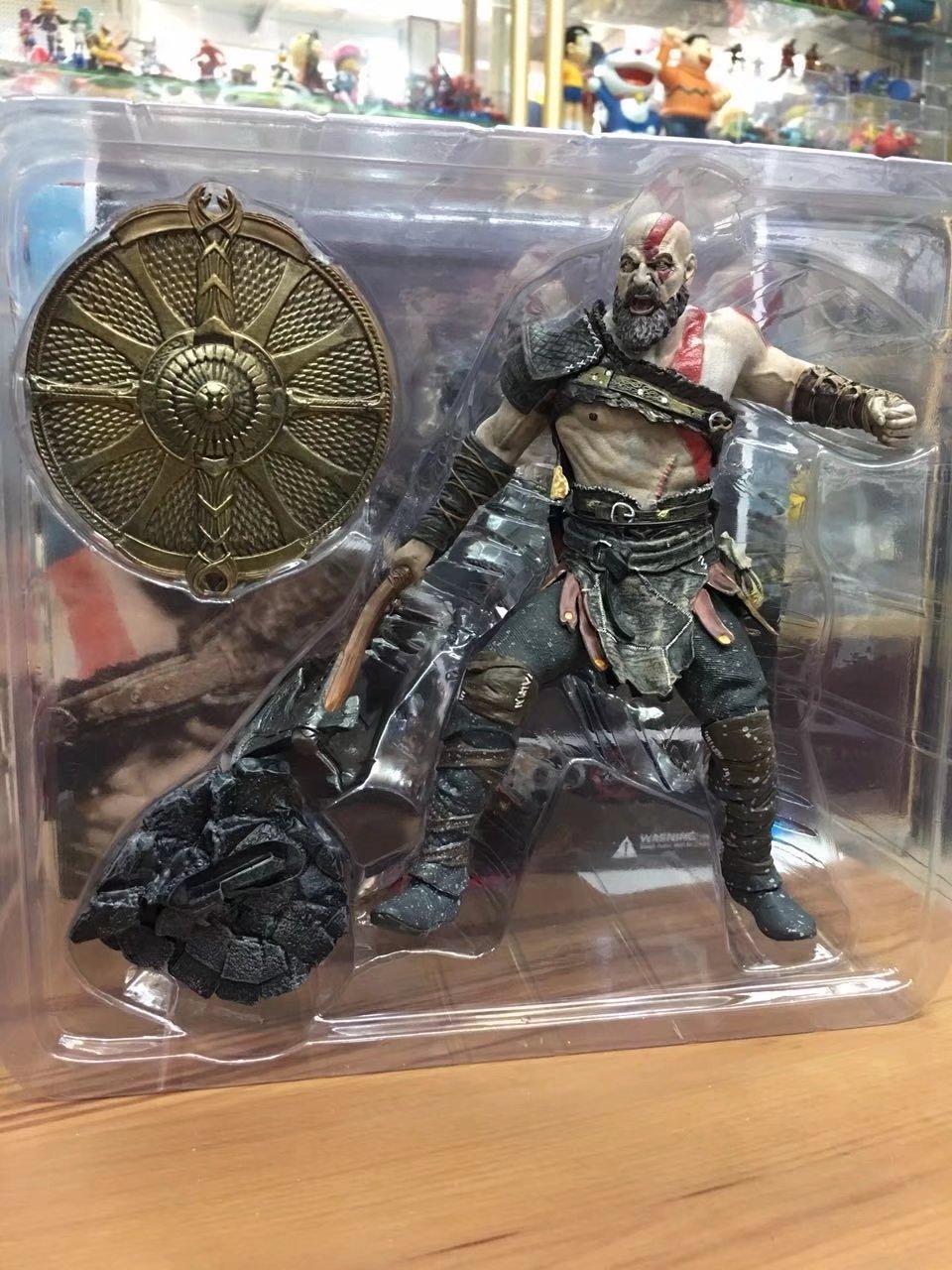 God Of War 4, Kratos Action Pvc Figure Da Collezione Modello Giocattoli  20Cm