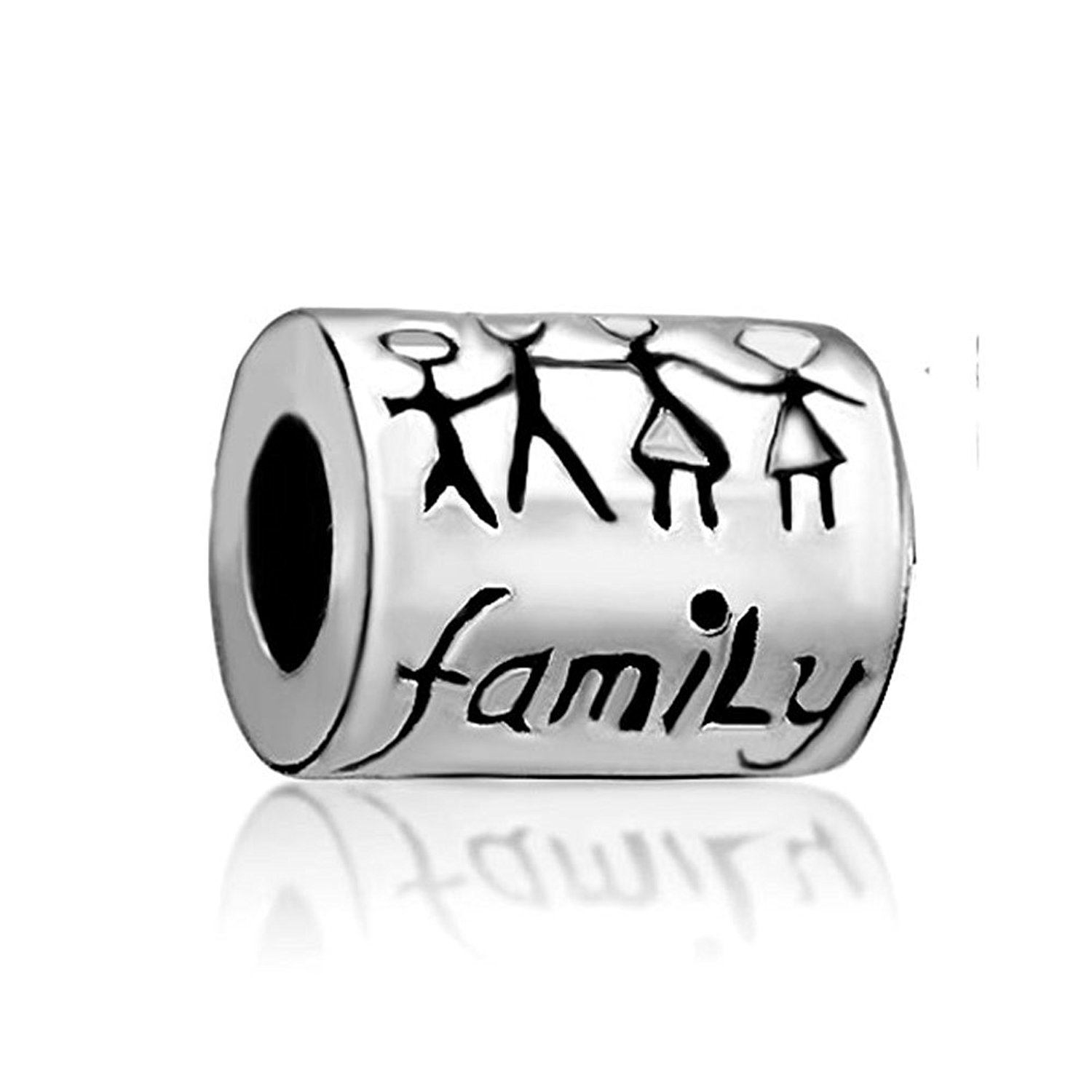 LeoBon Fashion Love Family Charms Father Mother Daughter Son Child Beads Fit Pandora Bracelet