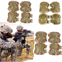 Military Tactical Protection Elbow & Knee Pads Set Sports Safety Hunting Shooting Pads Outdoor CS Paintball High Quality Protect