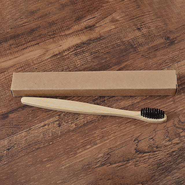 1pc cepillo bambu bamboo toothbrush rainbow colorful soft bristles biodegradable teeth brush Bamboo Toothbrushes Oral Care Tooth 1