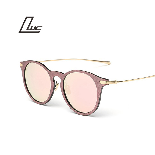 1656f5fc3 Imitar Madeira Ouro Quadros Masculinos Óculos De Sol Das Mulheres Designer  de Marca óculos de Sol