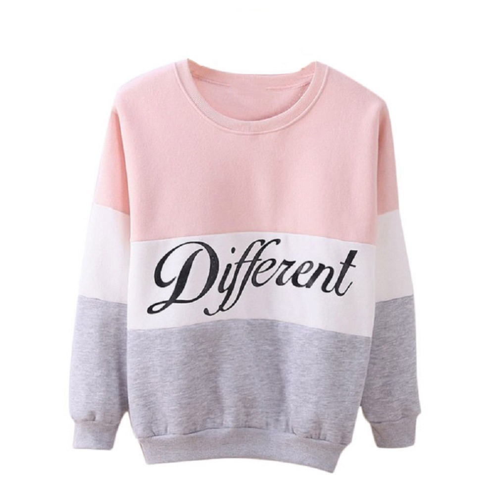2016 Autumn And Winter Women Fleeve Hoodies Printed Letters Different Women's Casual Sweatshirt Hoody Sudaderas