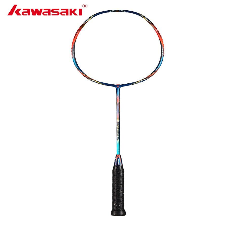 Raquette de Badminton originale Kawasaki 2019 King K9 tout autour Type T raquette en Fiber de carbone pour joueurs intermédiaires