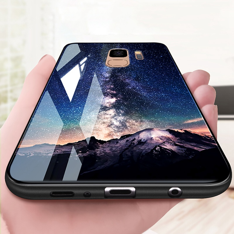 Odifren Space Case for Samsung Galaxy S9 S9 Plus Case Note 9 Tempered Glass Cover Coque Phone Cases for Samsung Galaxy Note 8 9 (5)