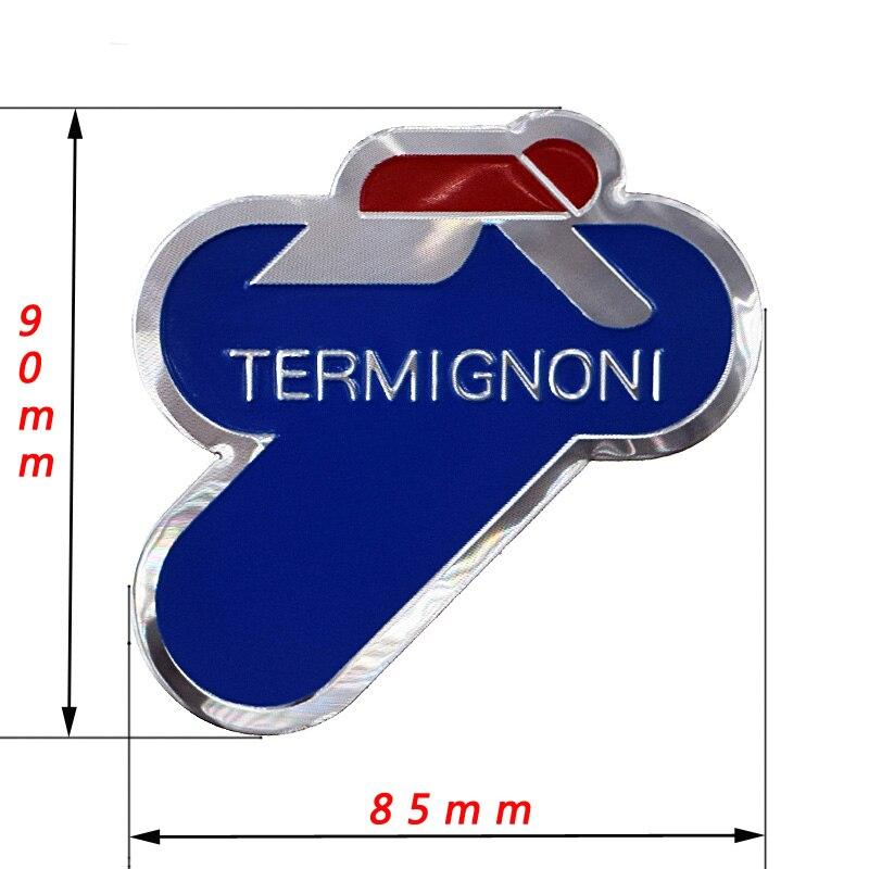 3D Aluminum Heat-resistant Aluminium Motorcycle Exhaust Pipes Decal Sticker For Scorpio Yoshimura Termignoni Sticker