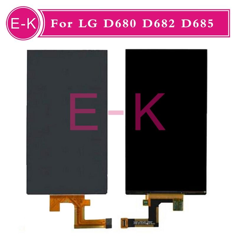 DHL EMS 10pcs/lot Original For LG D680 D682 D685 LCD display Screen Replacement Free shipping 20pcs lot dhl ems for lg k series k5