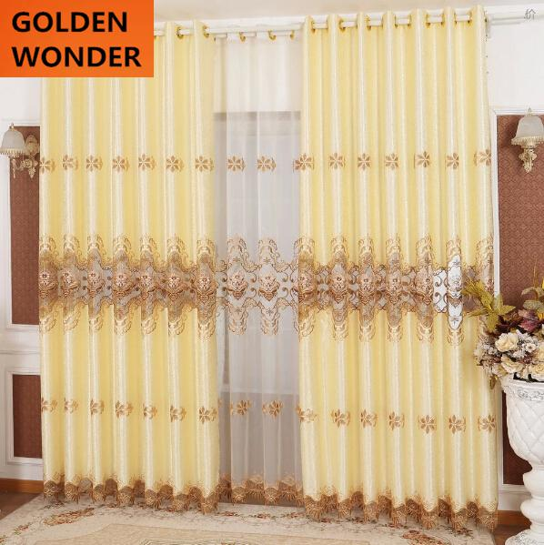 Hot Sale Luxury Curtains For Living Room Embroidered Curtains For Windows  Blackout Cortinas Curtains For Bedroom