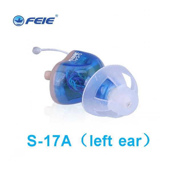 New products Hearing Aid in the ear Clear sound Amplifier invisible mini hearing aids Deaf-aid Earphones for elderly S-17A digital hearing aids medical health ear care low noise mini invisible sound amplifier deaf aid s 11a