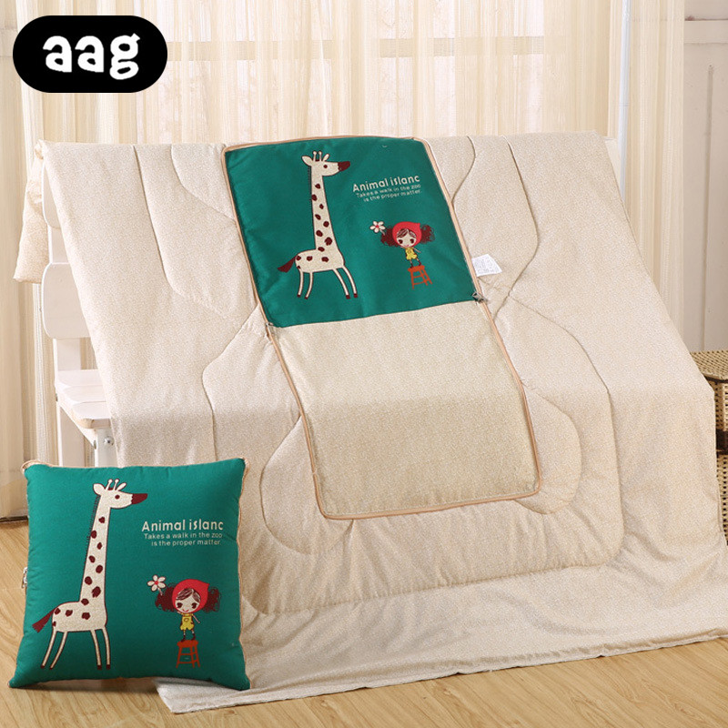 Air Condition Blanket Pillow Travel Office Nap Blanket 3 In 1 Fruit Air Conditioner Quilt Pillow Batteries