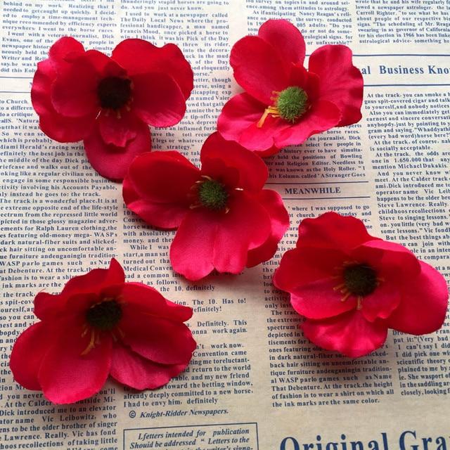 100pcs 7cm silk poppy flower heads imitation flowers for diy hair 100pcs 7cm silk poppy flower heads imitation flowers for diy hair garland corsage dress accessories wedding mightylinksfo