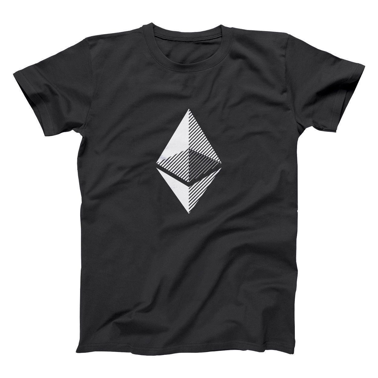 Ethereum Cryptocurreny Bitcoin Mining Miner Geek T-Shirt Summer Mens Print T Shirt Short Sleeves 100% Cotton