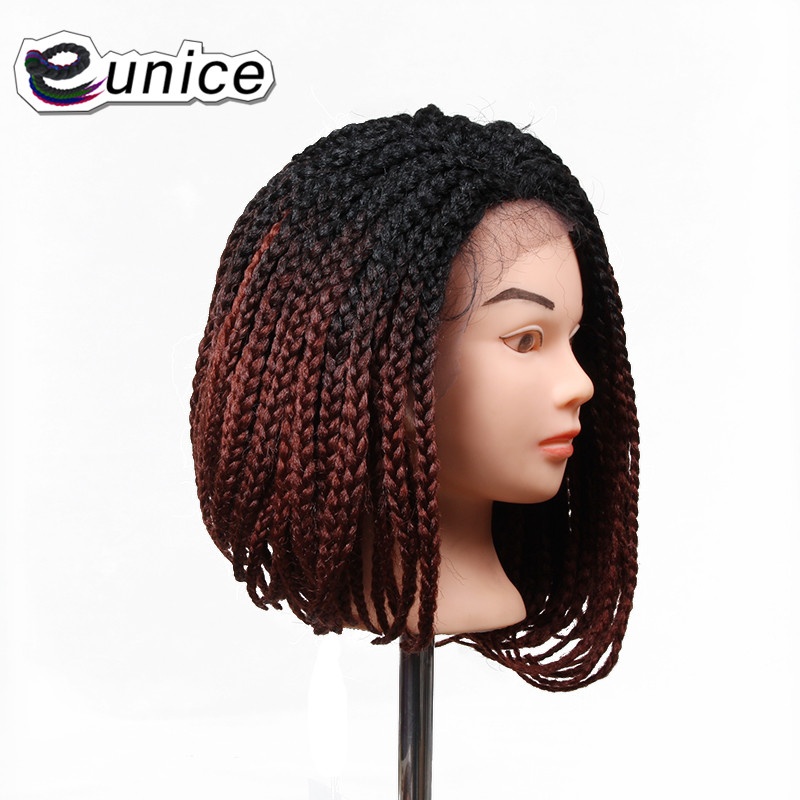 Inch X Box Braid Crochet Wig Synthetic Lace Front Wig Bob - Bob hairstyle with braids