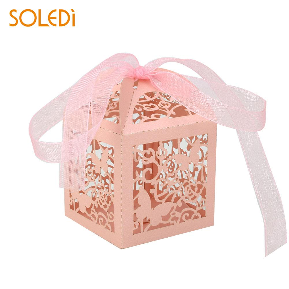 Portable Cartoon Food Container Ribbon Gift Box Paper Party Decor ...