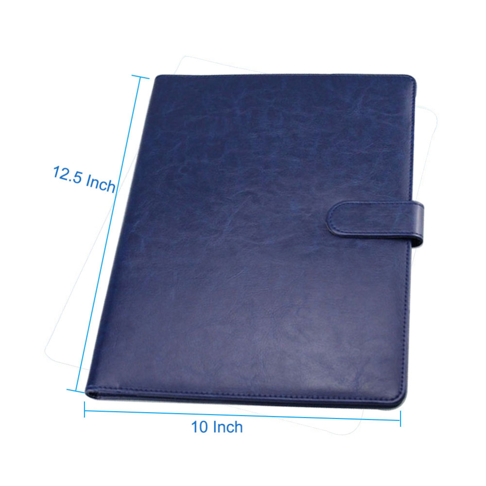 A4 Clipboard Folder Portfolio Multi-function Leather Organizer Sturdy  Office Manager Clip Writing Pads Legal Paper Contract 4