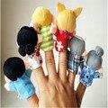 Lindo Juguetes Para niños Muñecas del Favor 6 Unids Dedo Siquiera Narración Buenos Juguetes Marioneta de Mano De Regalo del bebé envío Gratis