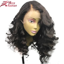 Dream Beauty Brazilian Body Wave 150% Density Hair Full Lace Wigs With Baby Hair 10-16 inch Non Remy Hair Natural Color