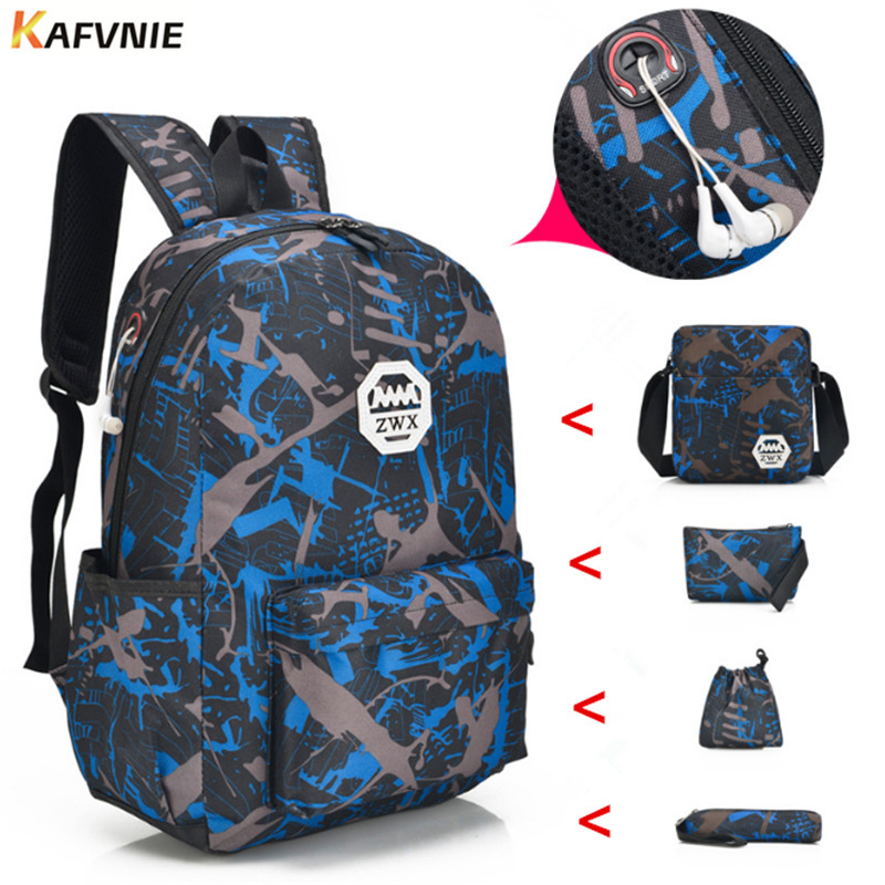c5fab531a5 5pcs Male backpack bag set red and white high school bags for boys one  shoulder big student book bag men school backpack women-in Backpacks from  Luggage ...