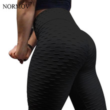NORMOV Women Black Push Up Leggings High Waist Classic Trousers Female Workout Leggings Fitness Clothing Solid Breathable(China)