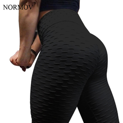 NORMOV Women Black Push Up Leggings High Waist Classic Trousers Female Workout Leggings Fitness Clothing Solid Breathable