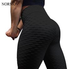 NORMOV Frauen Push-Up-Leggings Hohe Taille Klassische Hose Weibliche Workout Leggings Fitness Kleidung Solide Atmungs 6 Farbe(China)