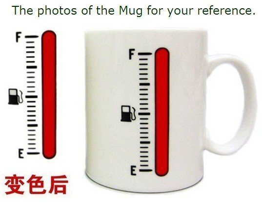 Hot sale Magic Color Change Cup Thermometer Coffee Mug Tank Up Mugs high quality